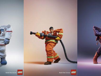 Profissões de sonho em Lego tamanho XL