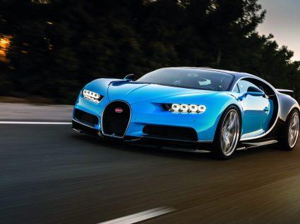 Bugatti Chiron a acelerar em terras alentejanas