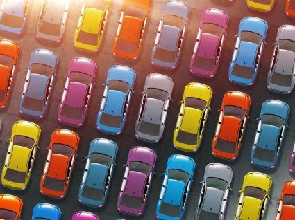 As 10 cores mais populares em carros
