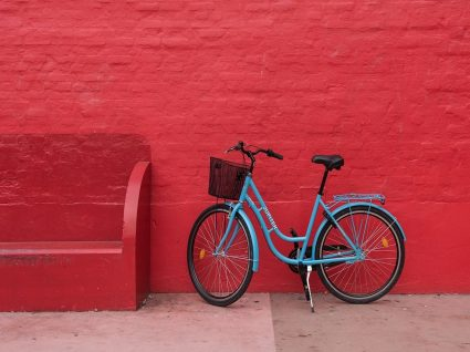 As bicicletas partilhadas oBike estacionaram em Lisboa