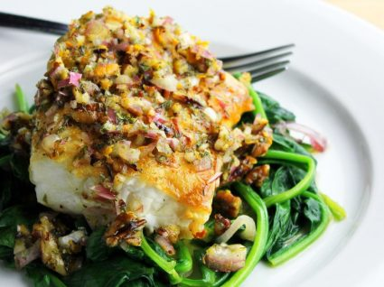 Ingredientes da semana: espinafres e bacalhau