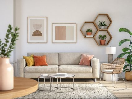 sala decorada com plantas, uma das coisas para ter em casa que atraem boas energias