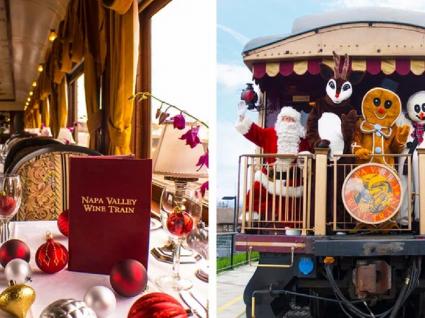 Este comboio de Natal vínico é perfeito para entrar no espírito