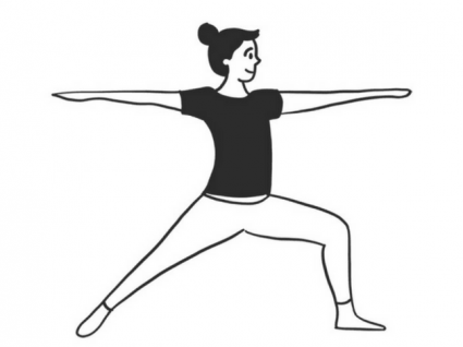 Precisa de um desenho para dar os primeiros passos no yoga?