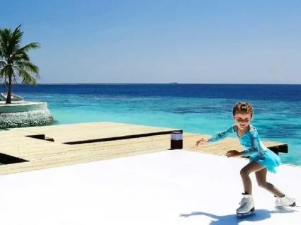 Já é possível patinar no gelo nas Maldivas