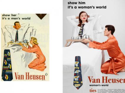 Fotógrafo inverte papéis de homem e mulher em publicidade sexista