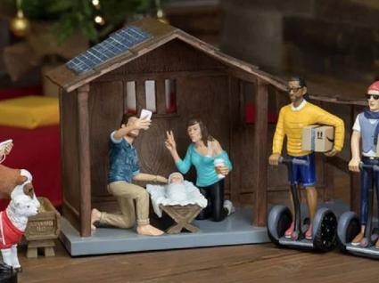 Já existe um presépio de Natal hipster