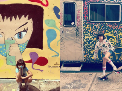 Apresentamos-lhe a artista urbana mais nova do mundo