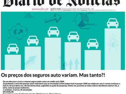 E-Konomista no Diário de Notícias - Os preços dos seguros auto variam. Mas tanto?!