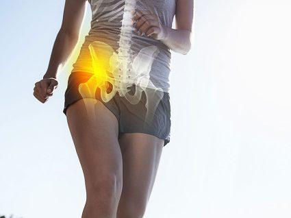 Lombar externa das pernas na parte dor
