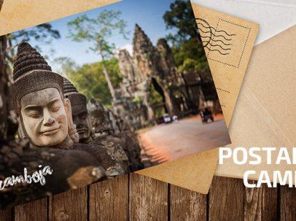Postais do Camboja: uma partida feliz