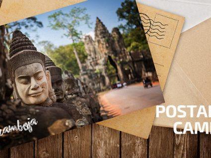 Postais do Camboja: de cabelos ao vento numa mota