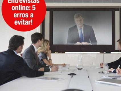 Entrevistas online: 5 erros a evitar!