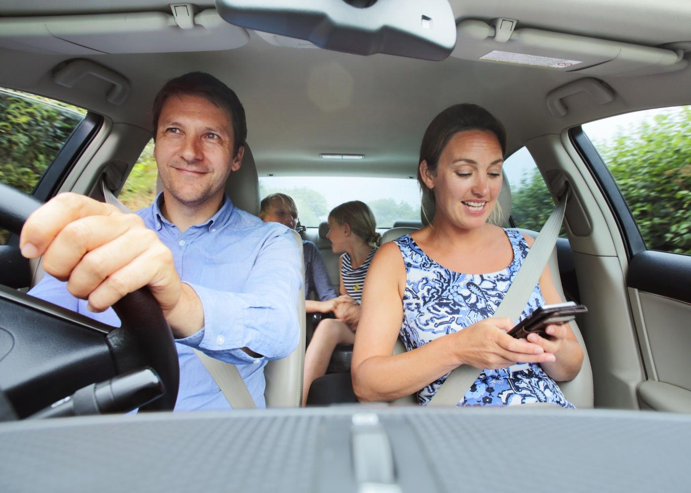 Família num carro