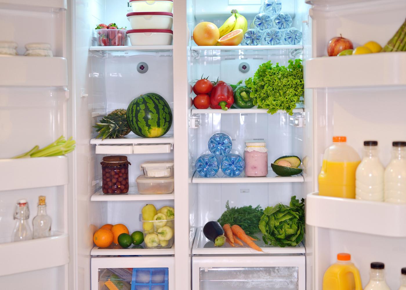 frigorifico aberto organizado