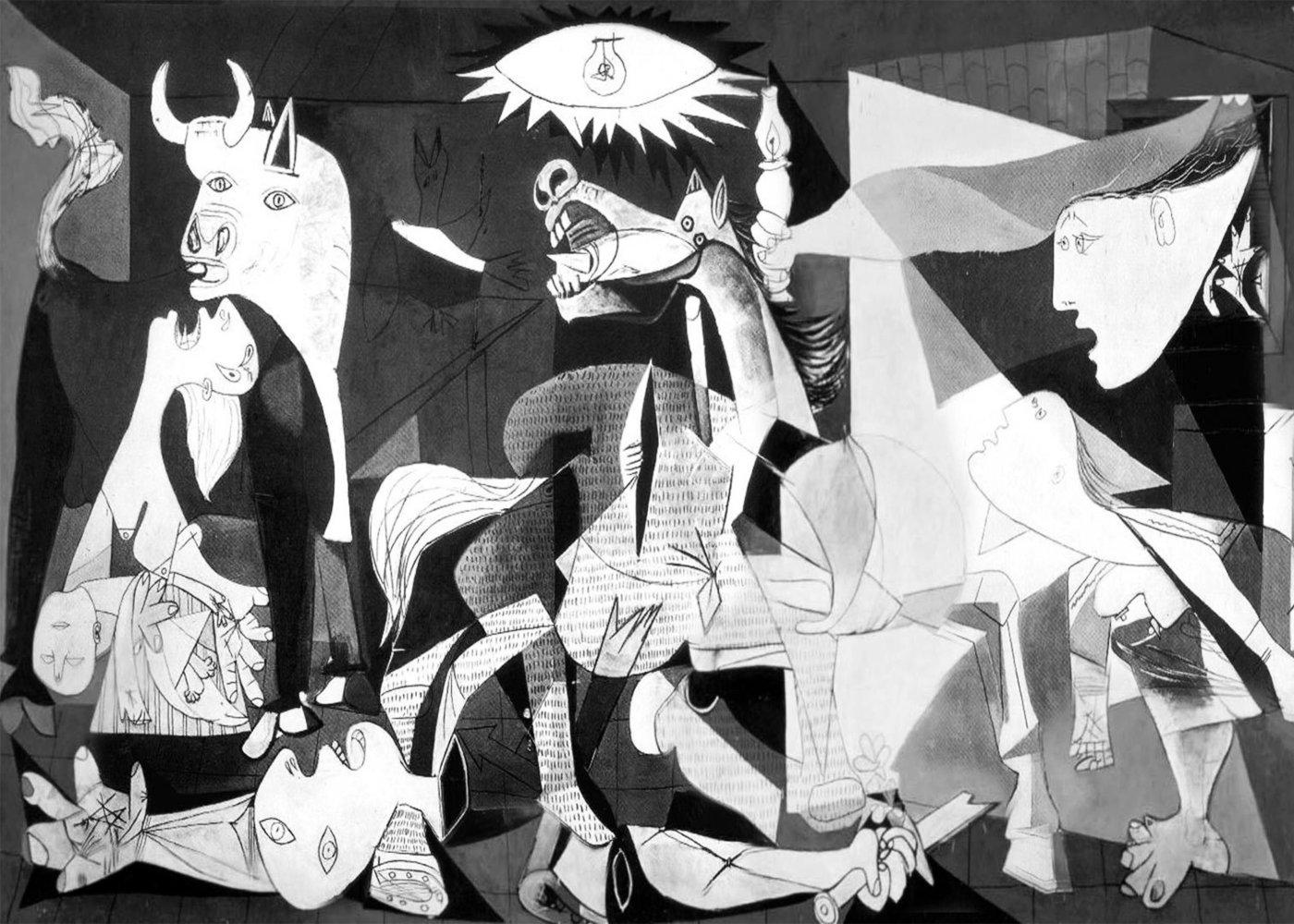 Quadro de Guernica no País basco pintado por Picasso