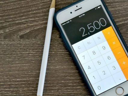 Como não apagar todos os números de uma vez na calculadora do iPhone