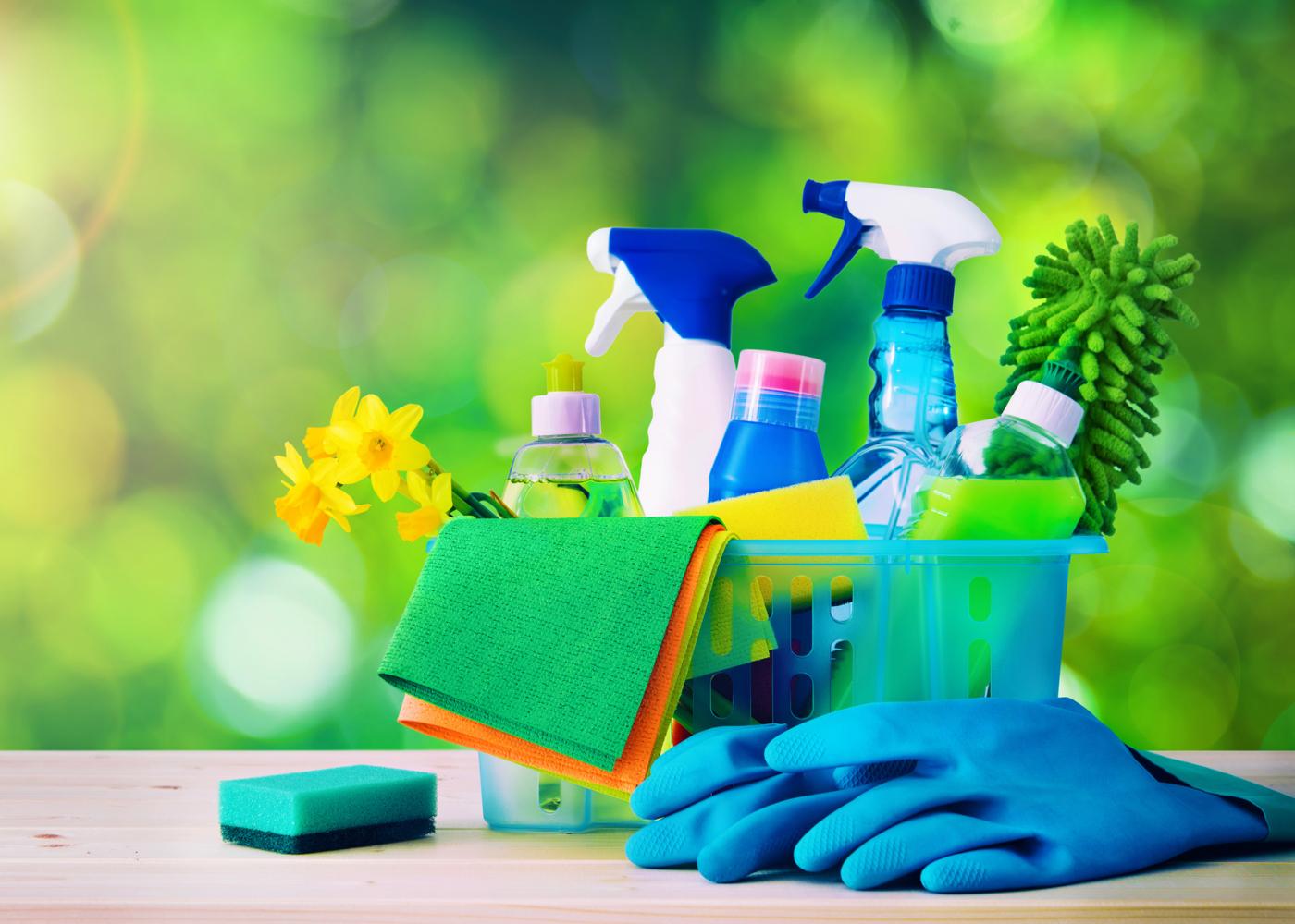 produtos de limpeza e acessórios