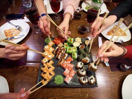 Refeição de sushi