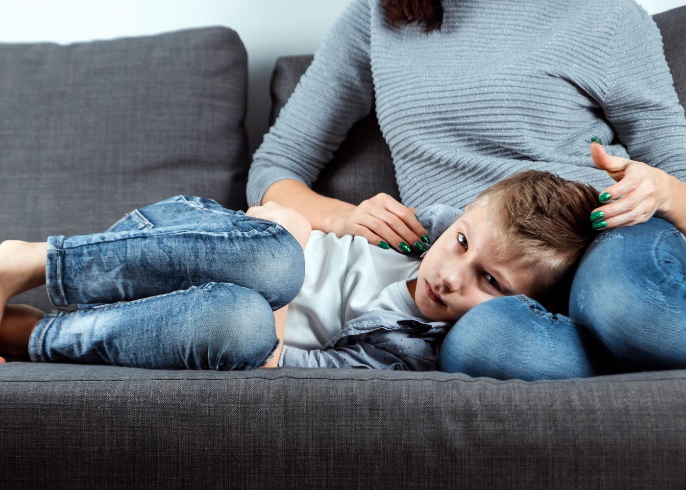 Criança com uma virose