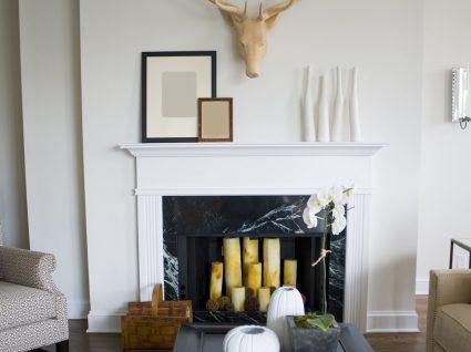 5 ideias para decorar uma lareira que não funciona