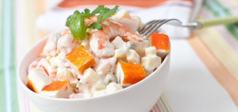 saladas de caranguejo