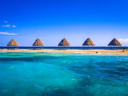 Praia no Belize