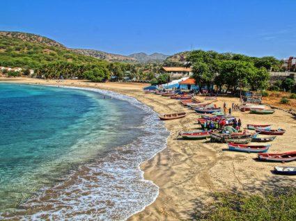 Praia em cabo Verde