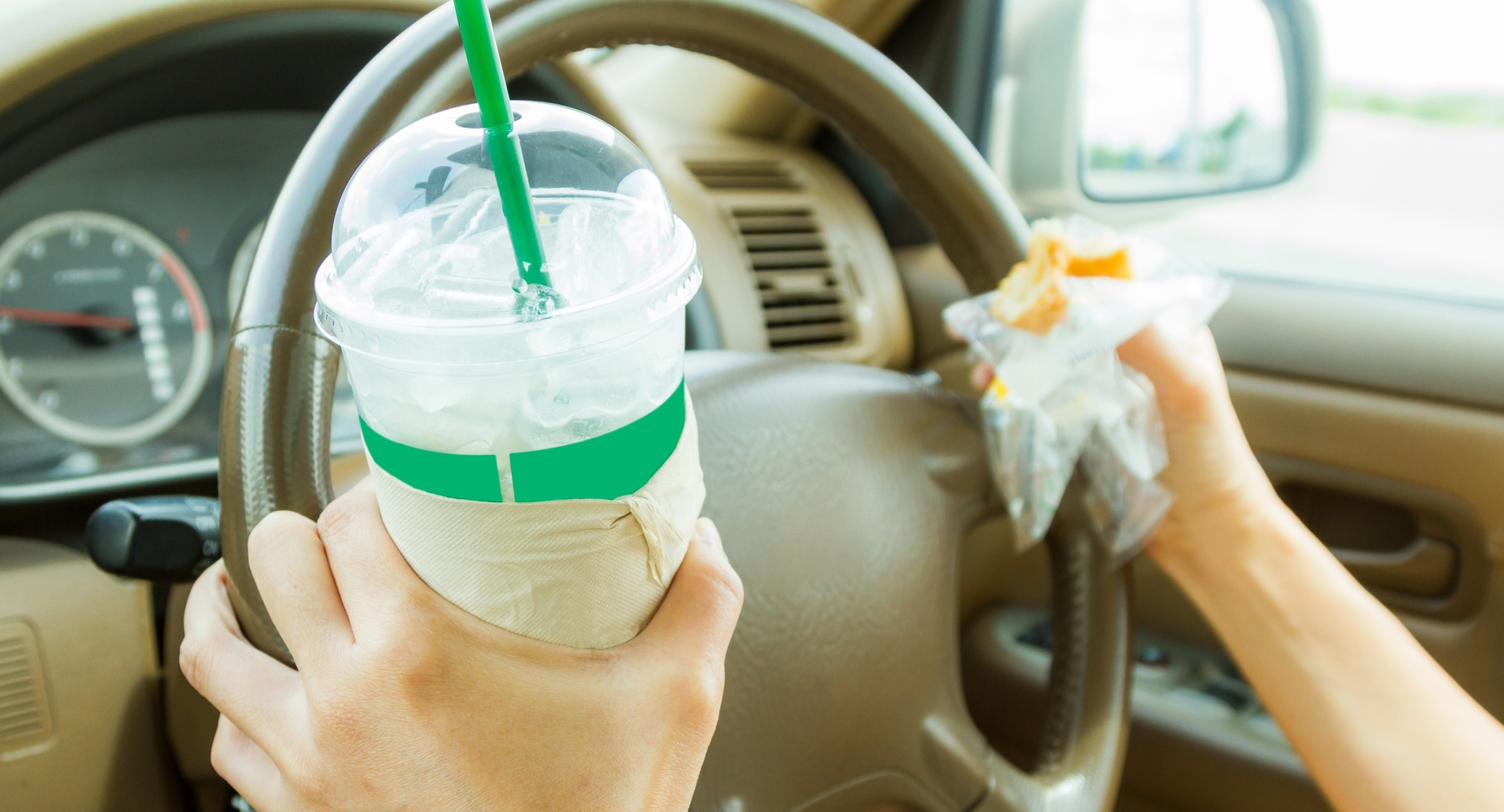 comer e beber a conduzir