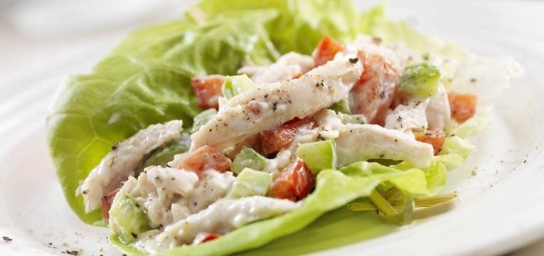 receita de saladas com frango