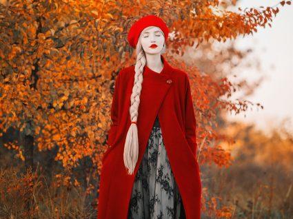 Casaco comprido outono