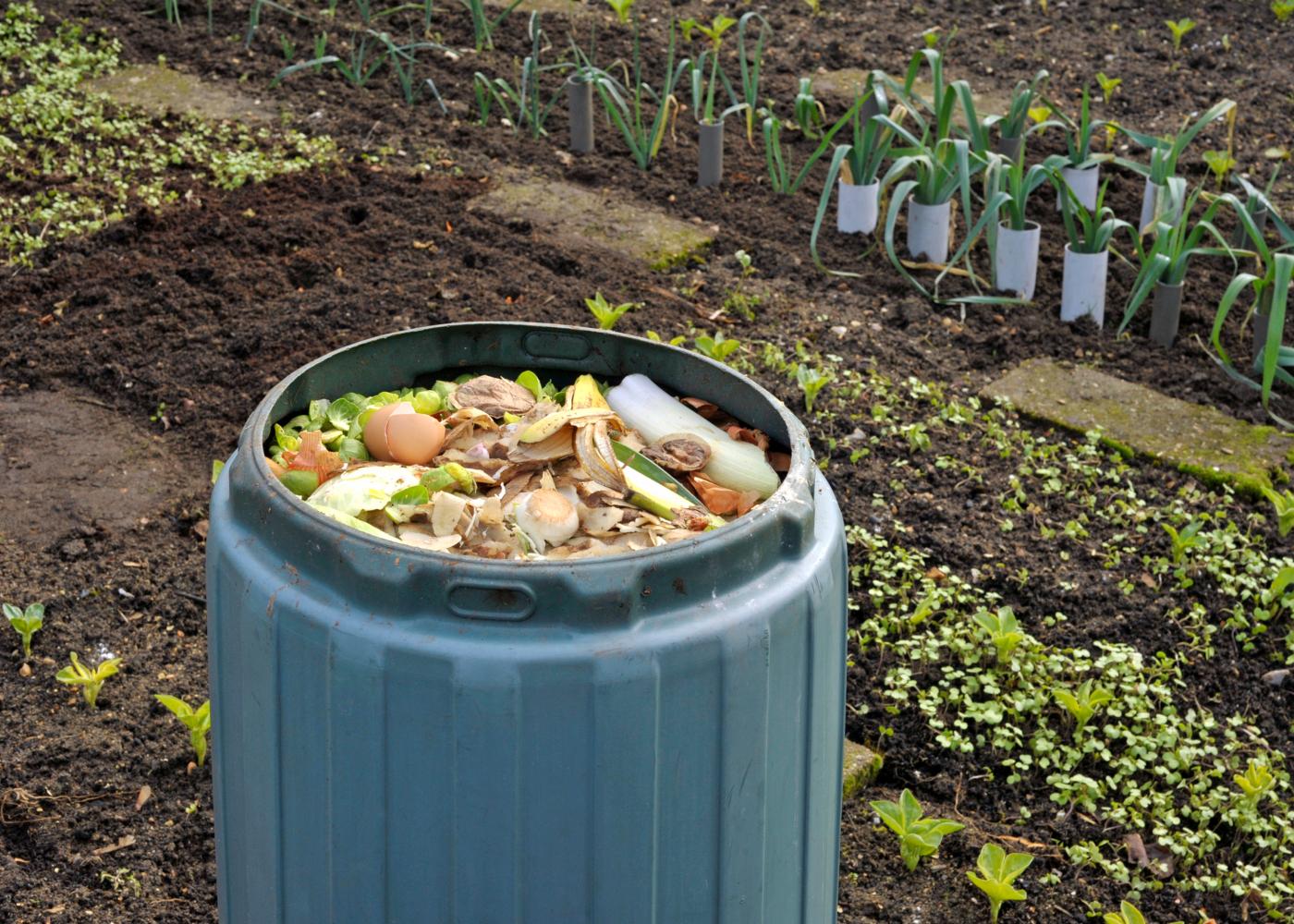balde de compostagem