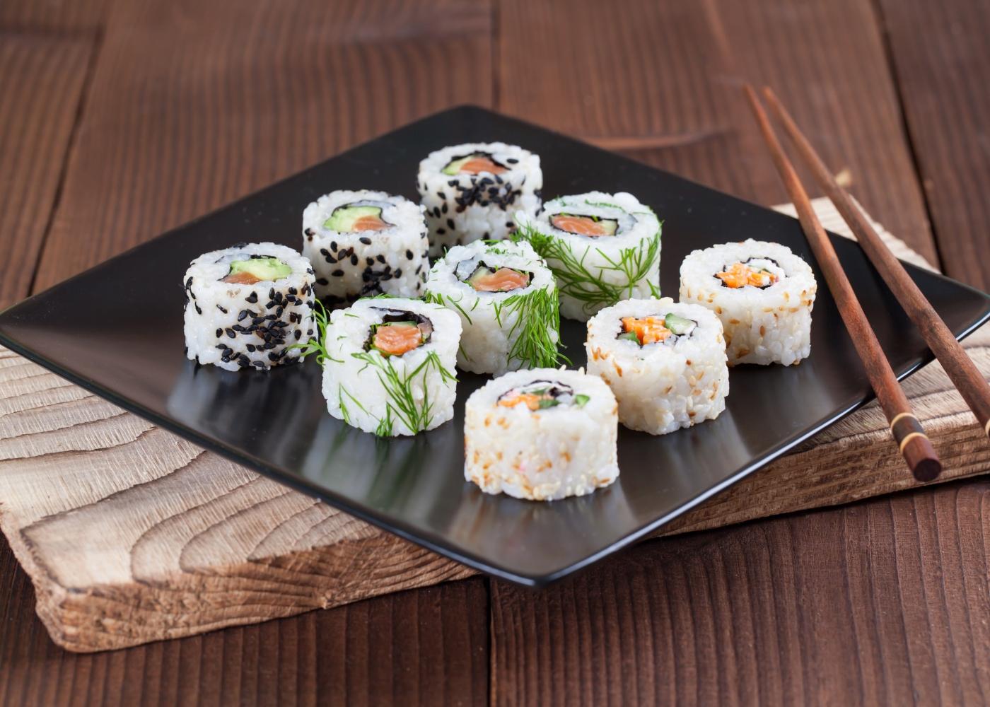 california mix, sushi caseiro