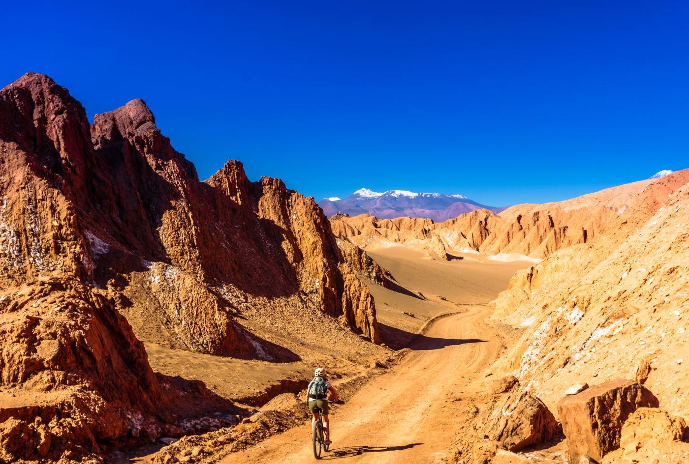 Vale da morte no deserto do Atacama
