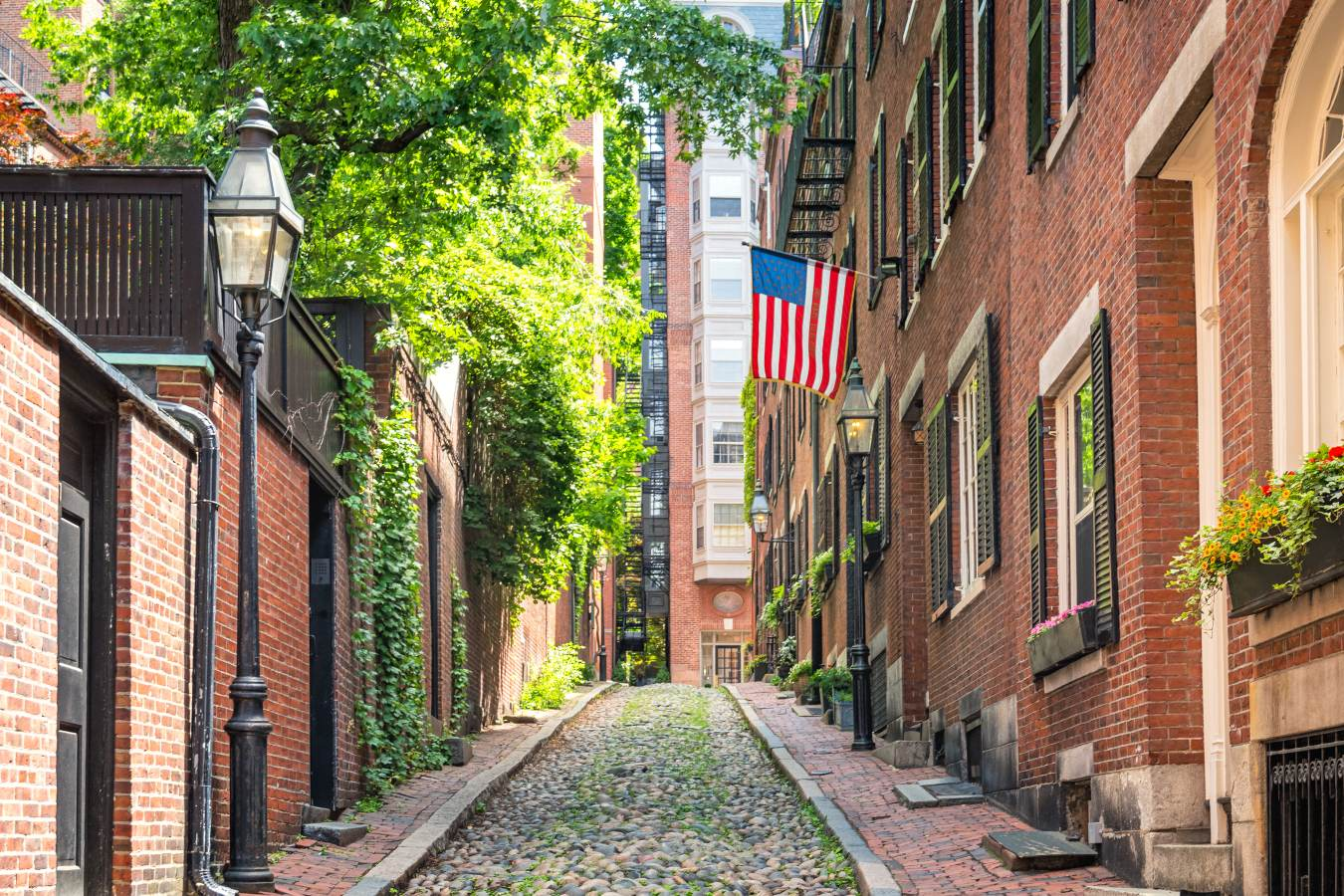 Bairro de Beacon Hill em Boston