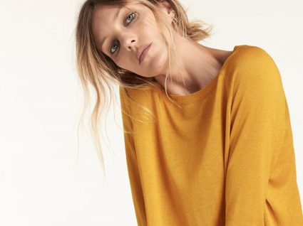camisola zara amarela