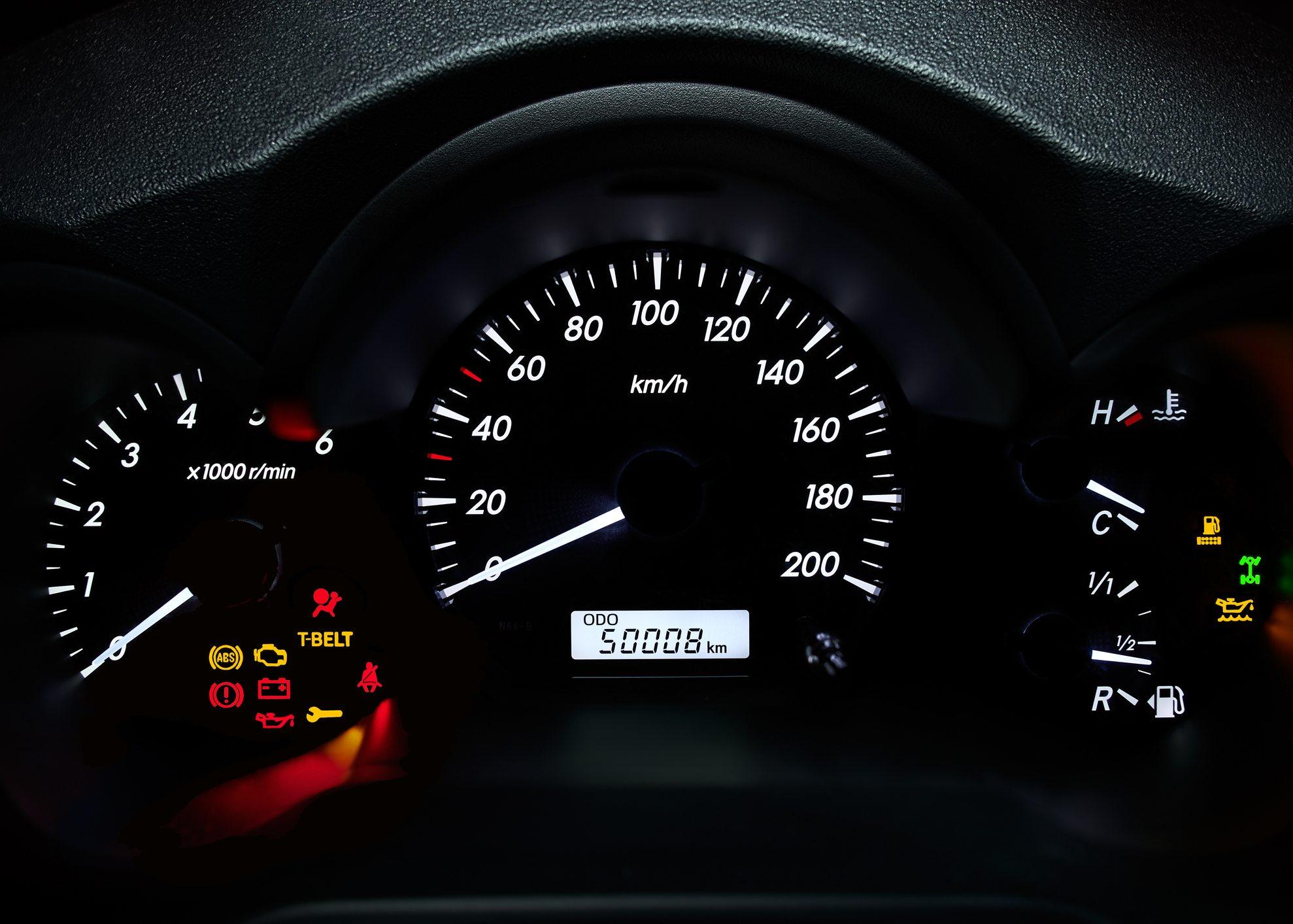 odómetro carro