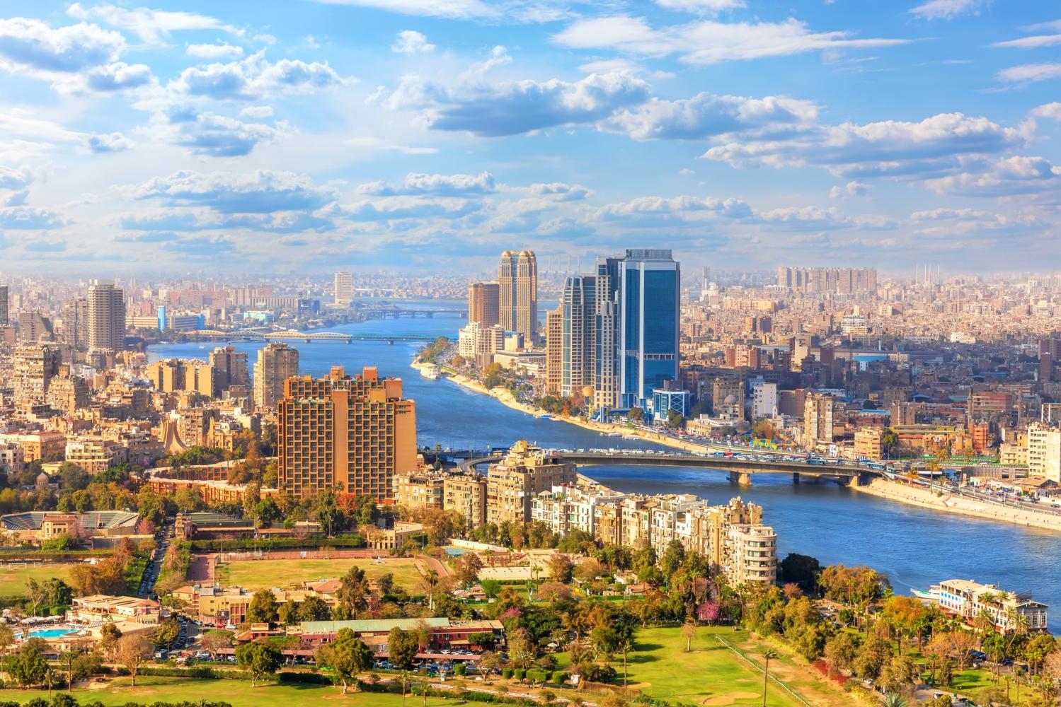 Vista da cidade do Cairo