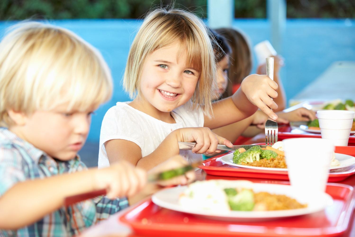 comida saudável na escola