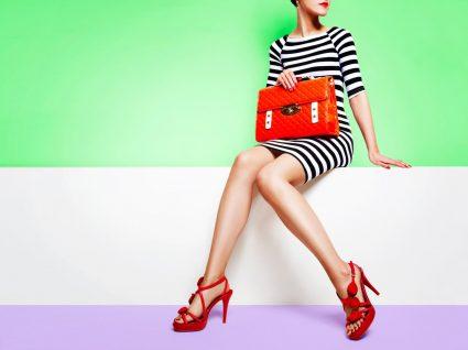 Mulher com artigos de moda