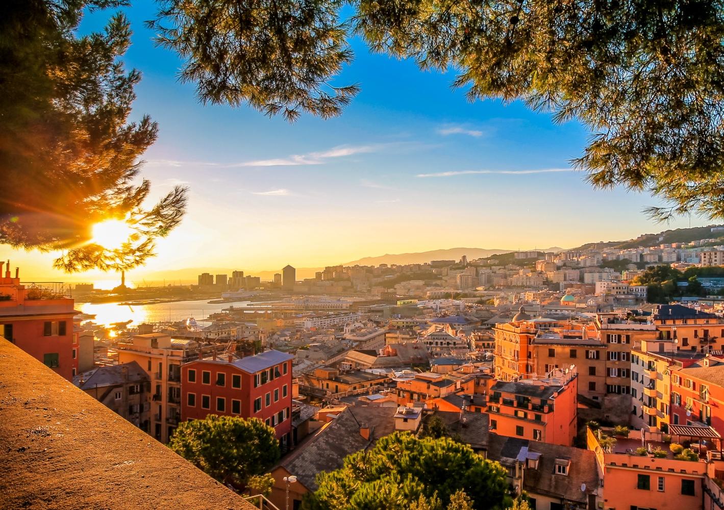 Vista panorâmica de Génova