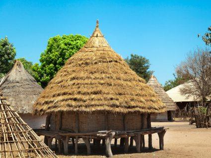 Casa tradicional da Guiné-Bissau