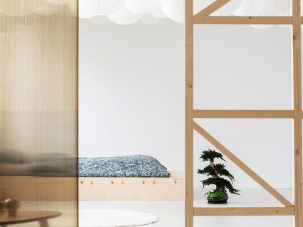quarto de estilo japandi