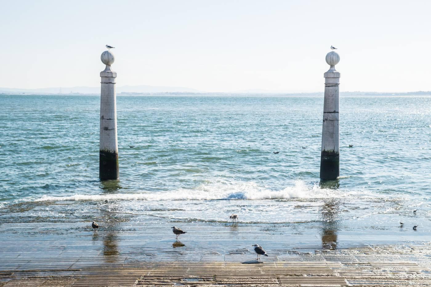 Cais das colunas em Lisboa
