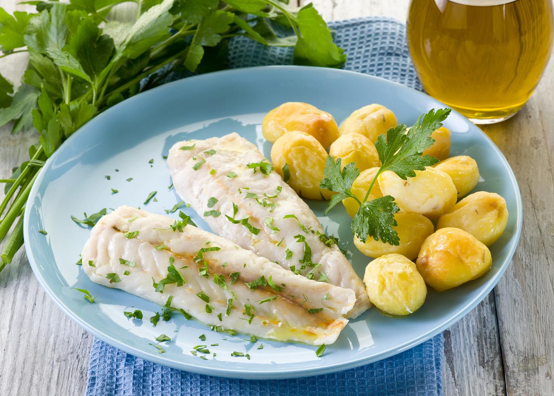 pescada com batatas