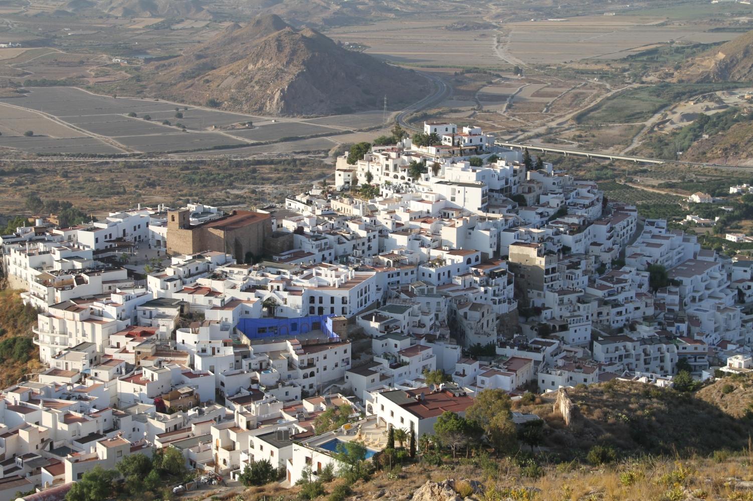 Vista área de Mojácar