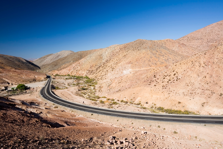 Estrada pan-americana no Chile