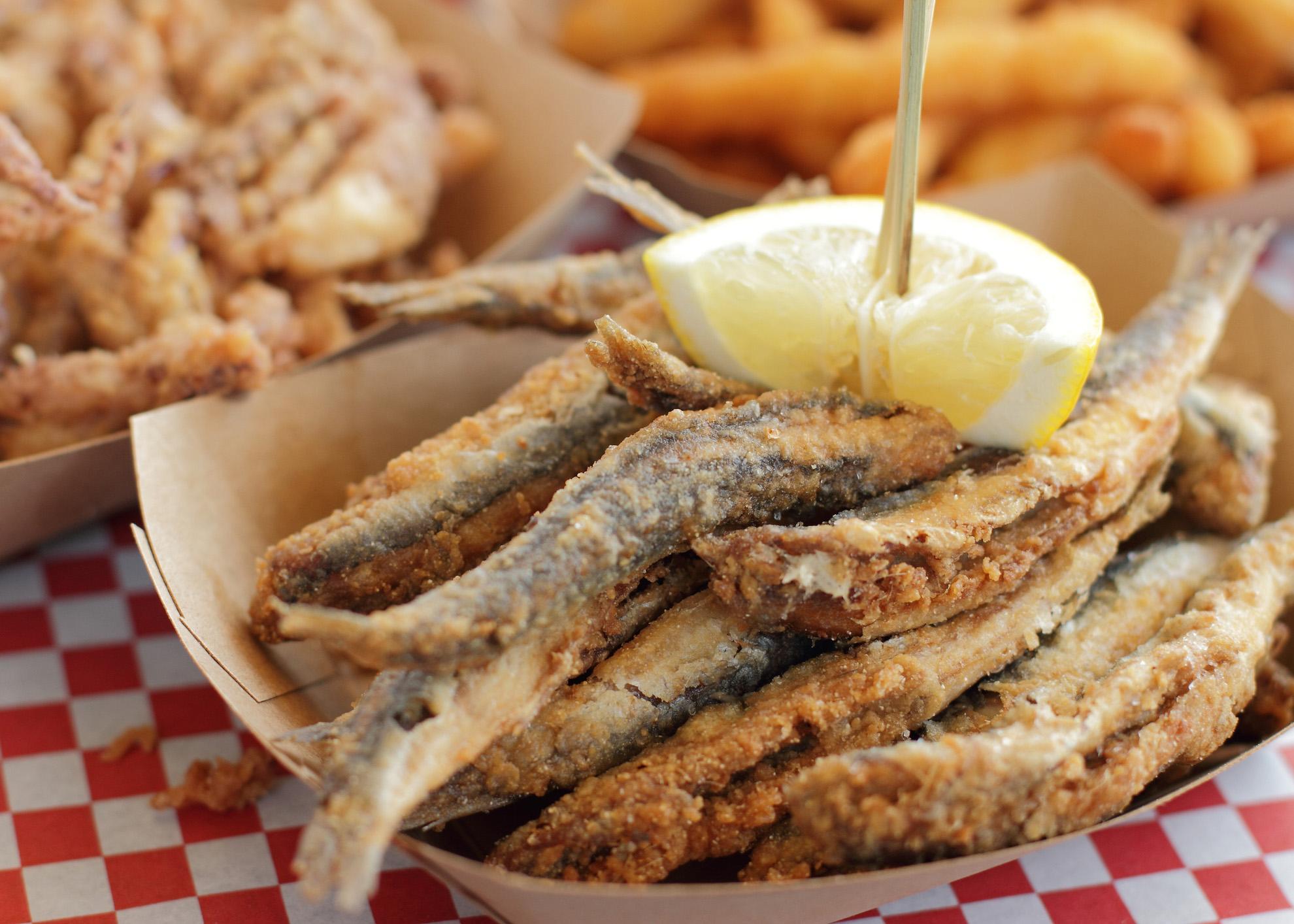 peixinhos fritos