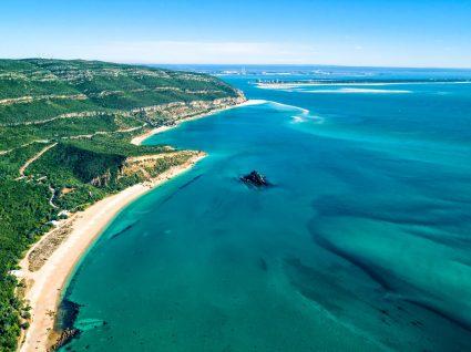 Panorâmica das praias da Arrábida