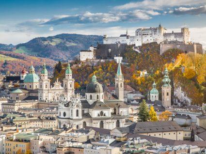 Vista geral da cidade de Salzburgo